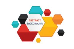 Abstract background hexagon colorful concept idea Stock Photography