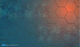 Abstract background with hexagon elements Stock Photography