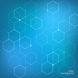 Abstract background hexagon gradient Royalty Free Stock Photos