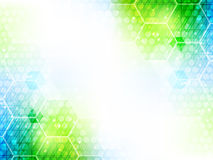 Abstract  background with hexagon pattern and shiny effect. Stock Photos