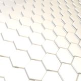 Abstract background hexagon plate. Abstract background made of white glossy hexagon plate composition Royalty Free Stock Images