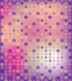 Abstract background of the hexagon and star. Abstract background of the hexagon and the star  Pastel lilac spring color  Put the text on top  The effect of Stock Image