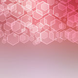Abstract background with hexagon. Texture vector illustration