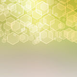 Abstract background with hexagon Stock Photo