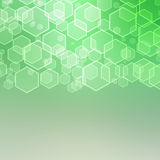 Abstract background with hexagon Stock Photography