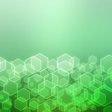 Abstract background with hexagon Stock Photos