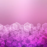 Abstract background with hexagon Royalty Free Stock Images