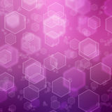Abstract background with hexagon Stock Images