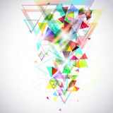 Abstract background of hexagon and triangle geometric geometry p Royalty Free Stock Photo