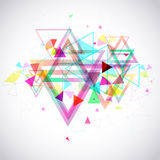 Abstract background of hexagon and triangle geometric geometry p Royalty Free Stock Photos