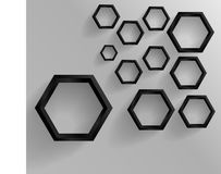 Abstract background Hexagon. Web and Design Royalty Free Stock Images