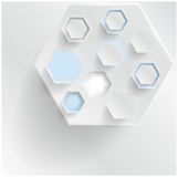 abstract background Hexagon. Web and Design Stock Image