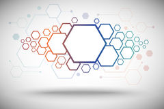 Abstract background of hexagonal cells gradient. Abstract background of hexagonal cells. From large to small. Vector graphics Stock Photo