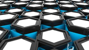 Abstract background with hexagonal. Digital illustration. 3d rendering Royalty Free Stock Photography