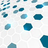 Abstract background with hexagonal pattern. Abstract business futuristic hexagonal background Royalty Free Illustration