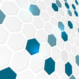 Abstract background with hexagonal pattern. Abstract business futuristic hexagonal background Vector Illustration