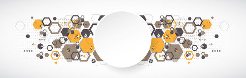 Abstract background with hexagonal shapes. Stock Images