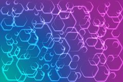 Abstract background with hexagonal shapes. Vector illustration EPS10 Stock Images