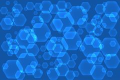 Abstract background with hexagonal shapes. Vector illustration EPS10 Royalty Free Stock Image