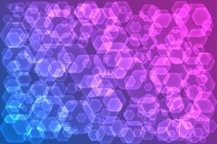 Abstract background with hexagonal shapes. Vector illustration EPS10 Royalty Free Illustration