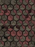Abstract background hexagonal technology illustration for print.  Stock Photo