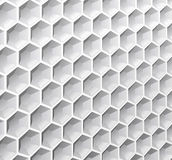 Abstract background of hexagons. Abstract background of monochrome hexagons is shown in the image Royalty Free Stock Photo