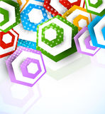 Abstract background with hexagons. Colorful illustration Stock Photo