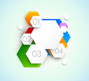 Abstract background with hexagons Stock Photos