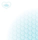 Abstract background with hexagons. Royalty Free Stock Photo