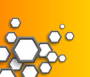 Abstract background with hexagons Stock Images
