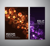 Abstract background hexagons. Brochure business design template or roll up. Vector illustration Royalty Free Stock Photos