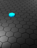 Abstract background with hexagons. 3D rendered abstract background with hexagons Royalty Free Stock Photos