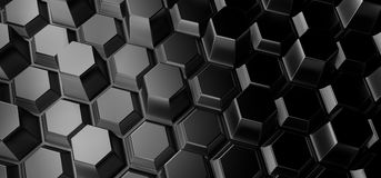Abstract Background With Hexagons. 3D Rendering Of Abstract Background With Hexagons Stock Photography