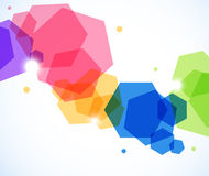 Abstract background with hexagons Royalty Free Stock Photo