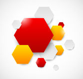 Abstract background with hexagons Stock Image
