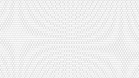 Abstract background from hexagons. Flat illustration Royalty Free Stock Photos