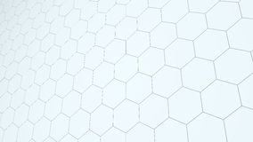 Abstract background from hexagons flat style. Abstract background from hexagons. Flat  illustration. surface of hexagonal tiles Stock Photo