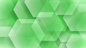 Abstract background of hexagons. And halftone dots in light green colors vector illustration