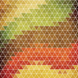 Abstract background of hexagons in retro style. Stock Photos