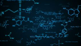 Abstract background with hexagons, structure molecule, 3d rendering science, technology and medical concept