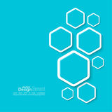 Abstract background with hexagons Royalty Free Stock Photography