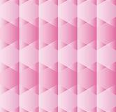 Abstract background with hexagons in various shades of pink Stock Image