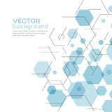 Abstract background with hexagons. Vector Royalty Free Stock Photo