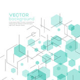 Abstract background with hexagons. Vector. Illustration EPS 10 Stock Photo