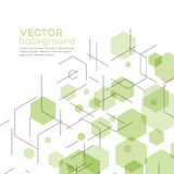Abstract background with hexagons. Vector Stock Photo