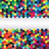 Abstract background of hexagons Stock Image