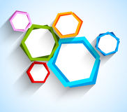 Abstract background with hexgons. This is file of EPS10 format stock illustration