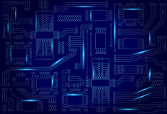 Abstract  background with high tech circuit board Stock Photo