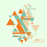 Abstract background. With hipster triangles. Triangle pattern background. For cover book, brochure, flyer, poster, magazine, cd cover design, t-shirt royalty free illustration