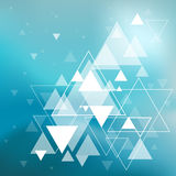 Abstract background with hipster triangles. In vector stock illustration